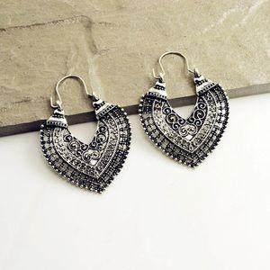 New Antique Silver Hook Earrings
